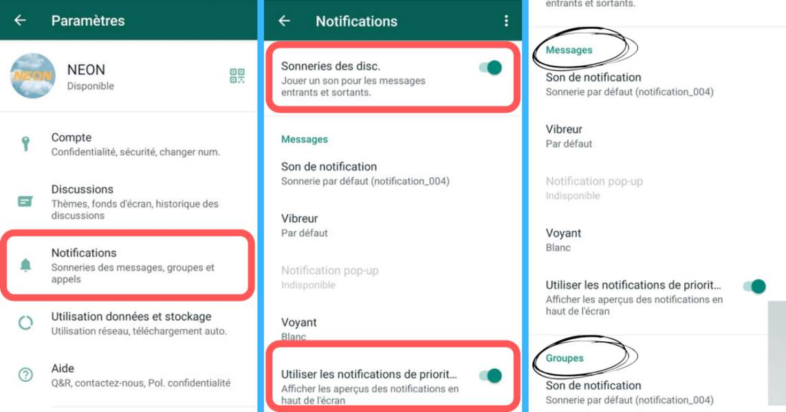Désactiver les notifications