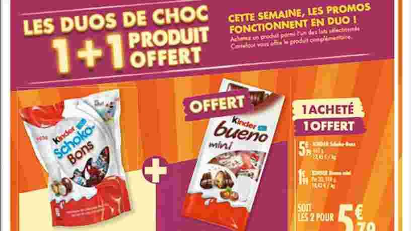 La parade de Carrefour pour contourner l'interdiction des promos '1 produit acheté = 1 produit offert'