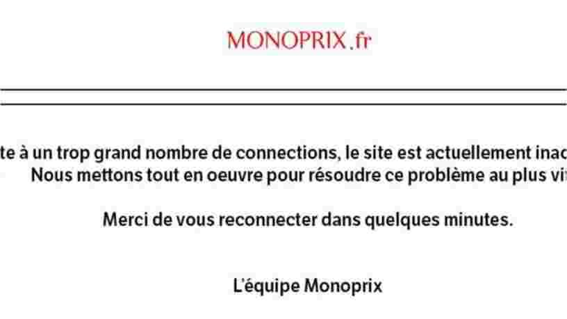 Le site de Monoprix est tombé face à une trop grosse demande