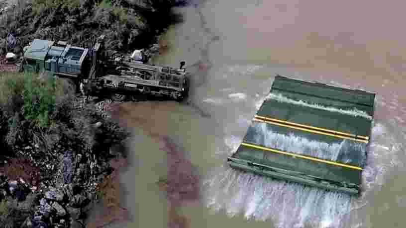 VIDEO: Voici comment les Marines américains construisent un pont temporaire pour traverser un fleuve
