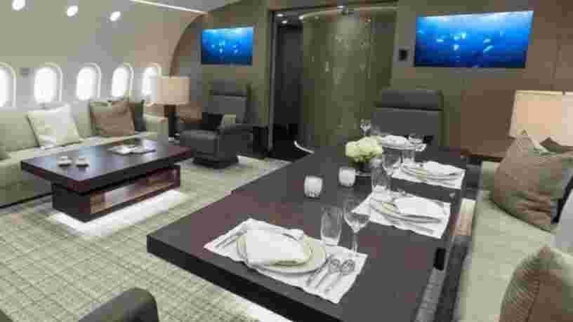 VIDEO: Ce Boeing 787 à 300M$ ne ressemble à aucun autre jet privé