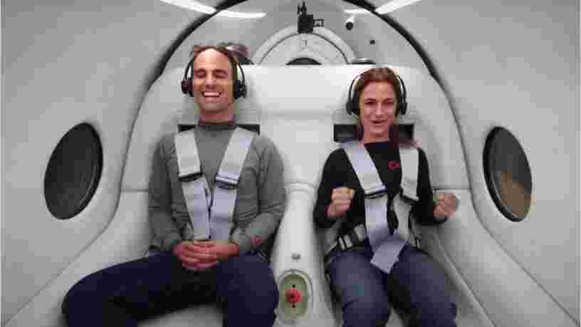 Virgin Hyperloop a testé son train supersonique avec des passagers pour la première fois