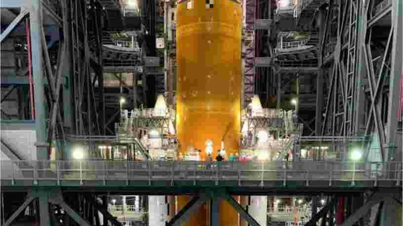 Voici les photos de la nouvelle mégafusée de la NASA, plus haute que la statue de la Liberté