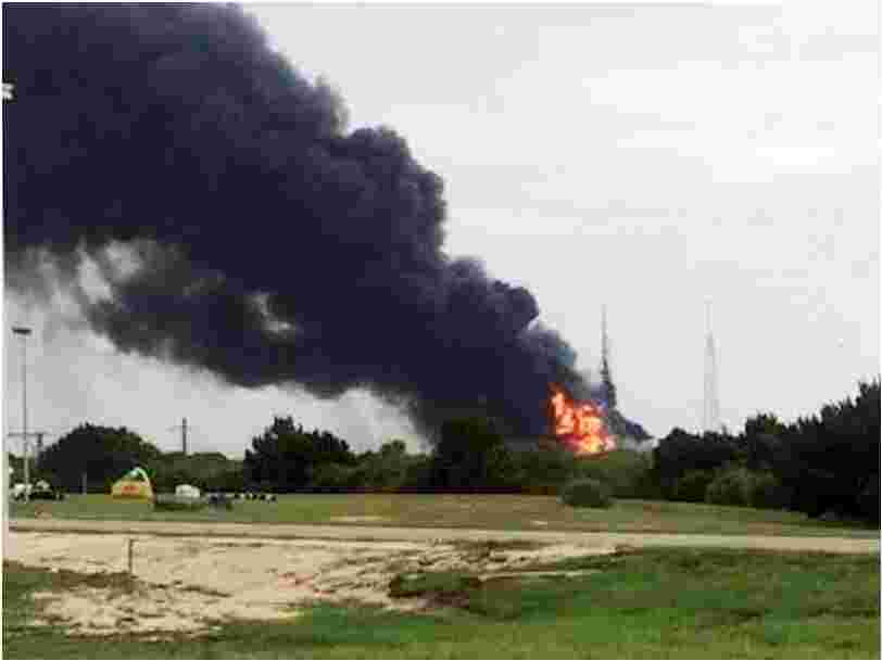 A rocket SpaceX was testing exploded on a launch pad in Florida