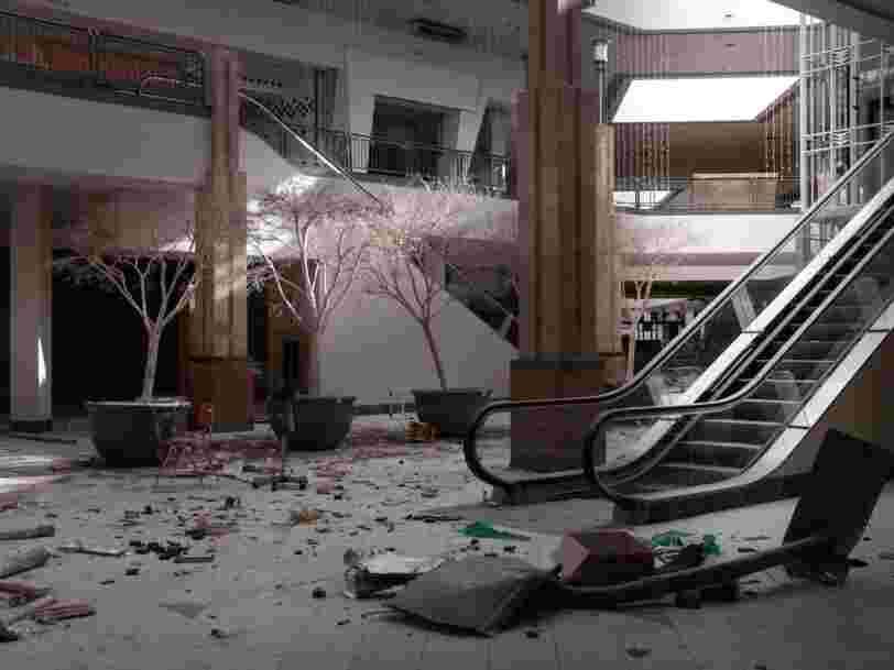50 haunting photos of abandoned shopping malls across America