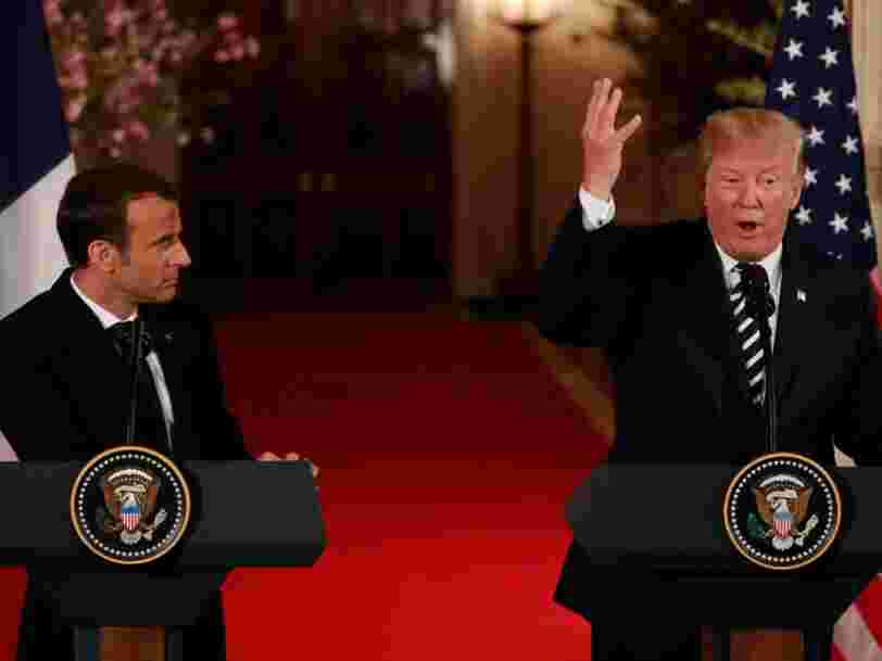 Trump mocks France's World War II record as relations with Macron deteriorate into confrontation