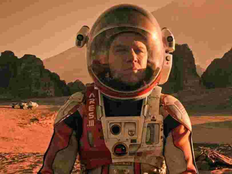 A former NASA scientist says 'The Martian' movie 'is completely doable.' But Elon Musk's city on Mars is another story.