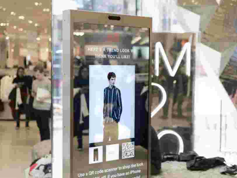 H&M is trialing a smart mirror that suggests outfits for you — and customers love it