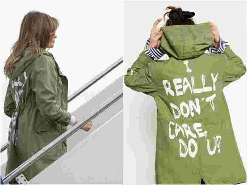 Melania Trump flew to Texas to visit immigrant children wearing a jacket that says 'I really don't care, do u?'
