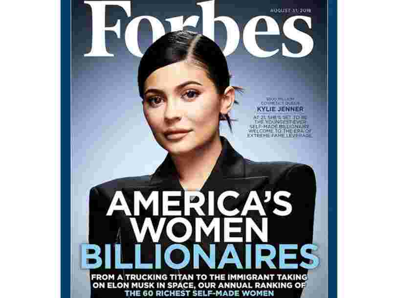 People are slamming Forbes for putting Kylie Jenner on its list of the richest 'self-made' women