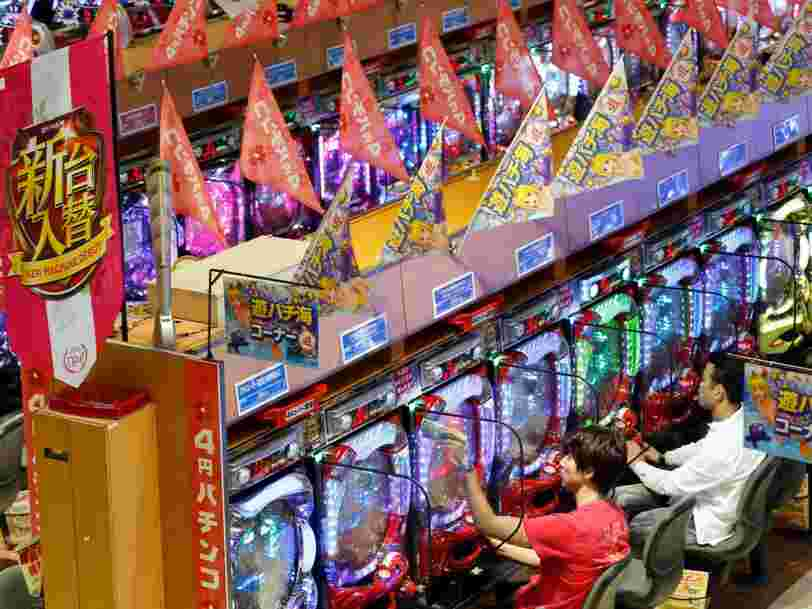 Japan's pinball gambling industry rakes in 30 times more cash than Las Vegas casinos
