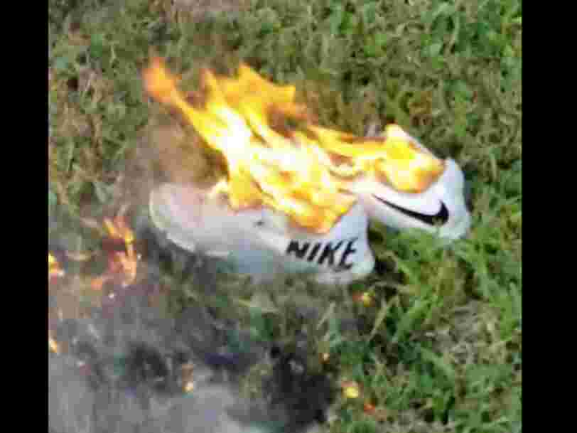 People are destroying their Nike shoes and socks to protest Nike's Colin Kaepernick ad campaign