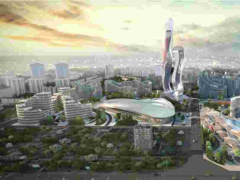 Senegal is building a $2 billion futuristic city to help cut down on overcrowding in Dakar  — check out its abstract design