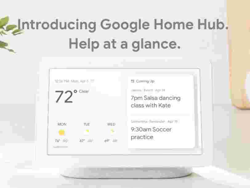 Google introduces the Home Hub, a $150 speaker with a screen to take on Amazon's Echo Show