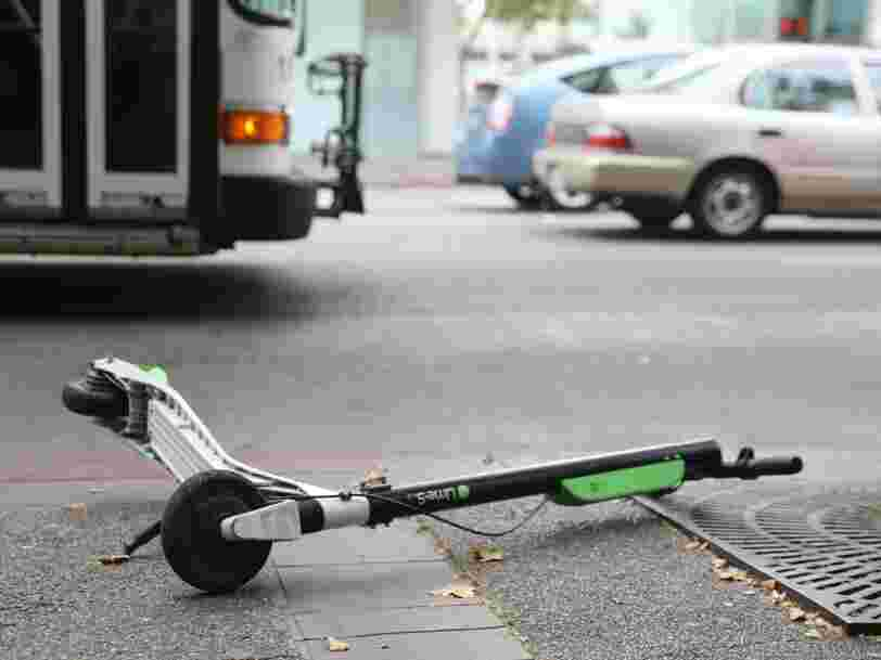 Toppled scooters, sidewalk riding, and illegal parking: Electric scooters have returned to San Francisco after being banned