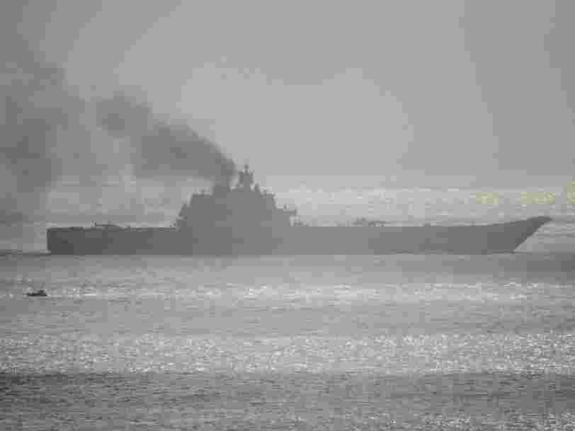 Russian ships sailing by NATO's war games have a tug with them — and it's a telltale sign of their surface fleet's biggest problem
