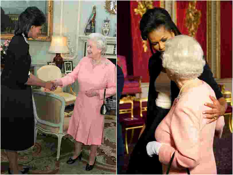 Michelle Obama tells her side of the story about the time she broke royal protocol and touched Queen Elizabeth