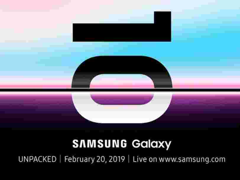 Samsung will unveil the new Galaxy S10 and official details on its first foldable smartphone at an event on February 20th