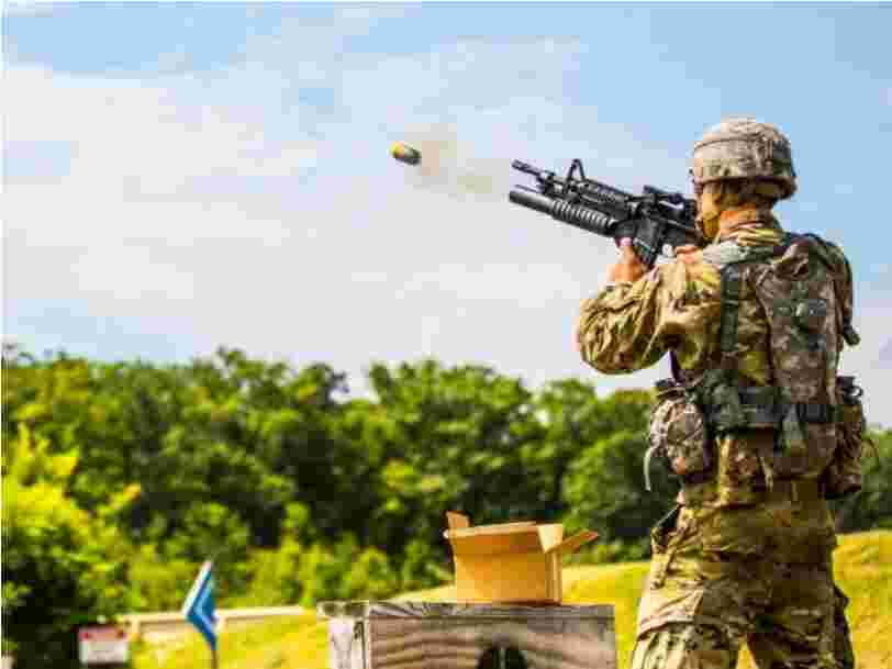Soldiers are firing off Spider-Man-like nets from grenades to down enemy drones