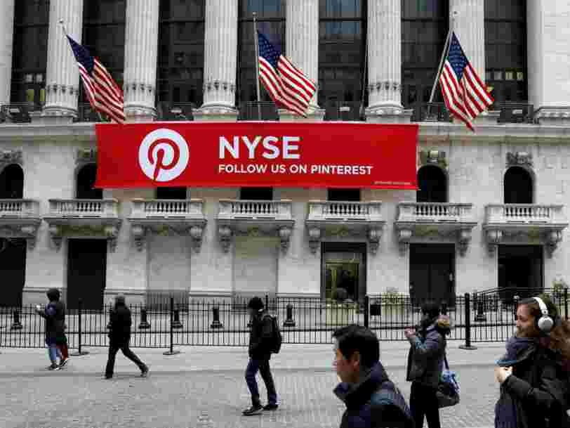 NYSE used a massive red banner to woo Pinterest away from the Nasdaq for its $12 billion IPO