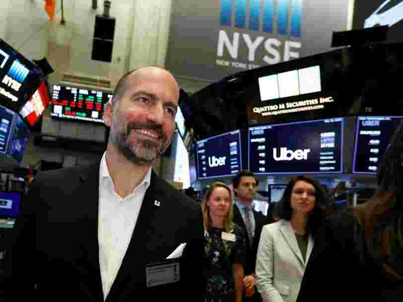 Uber had the worst first-day dollar loss ever of any US IPO
