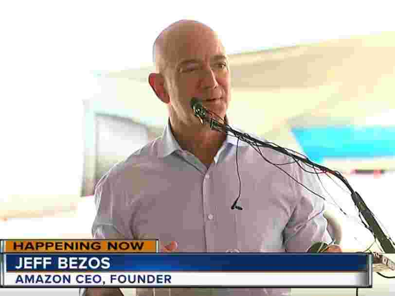 Amazon started building its $1.5 billion airport, with Jeff Bezos taking the controls of a front loader to begin the work