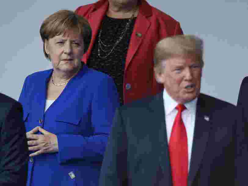 Angela Merkel says the postwar world order is over and calls for Europe to stand up to China, Russia, and the US