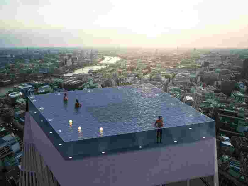 People can't figure out how you're supposed to get in and out of this stunning rooftop infinity pool with 360-degree views. Here's how it would work.
