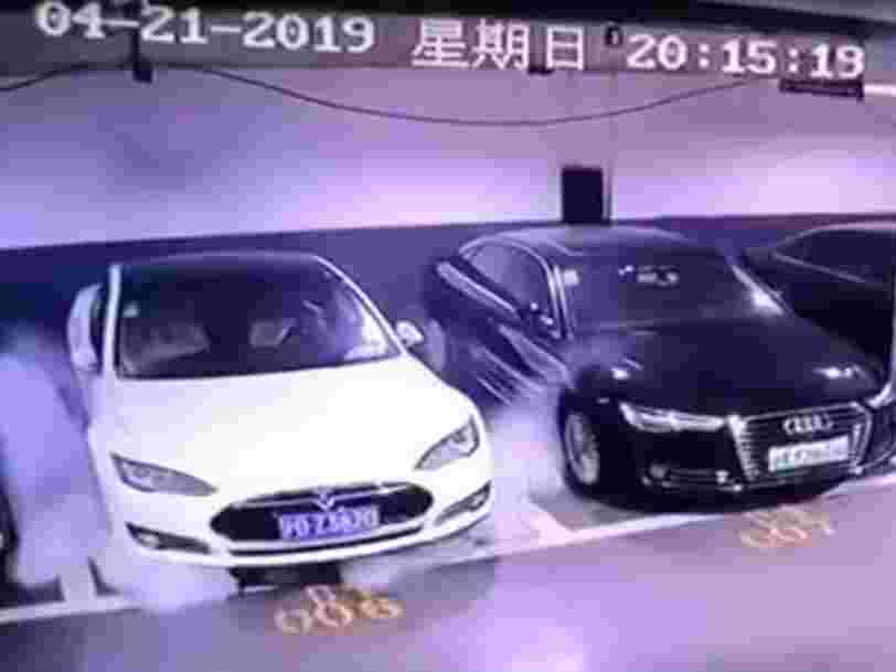 Tesla's investigation confirms a Model S that caught fire on video in Shanghai had a faulty battery module