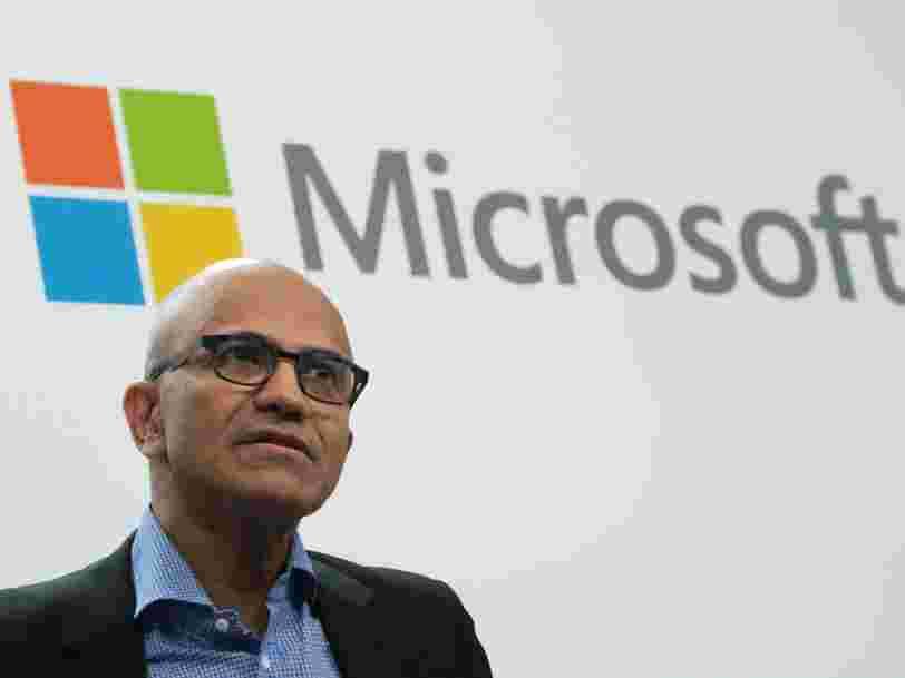 Microsoft blew away Wall Street estimates in its most recent quarter and grew its revenue by 12% from last year