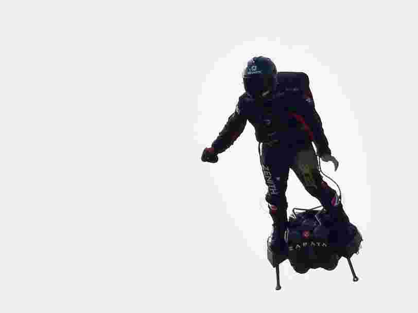 The French inventor who wants to cross the English Channel on a jet-powered hoverboard has failed in his attempt