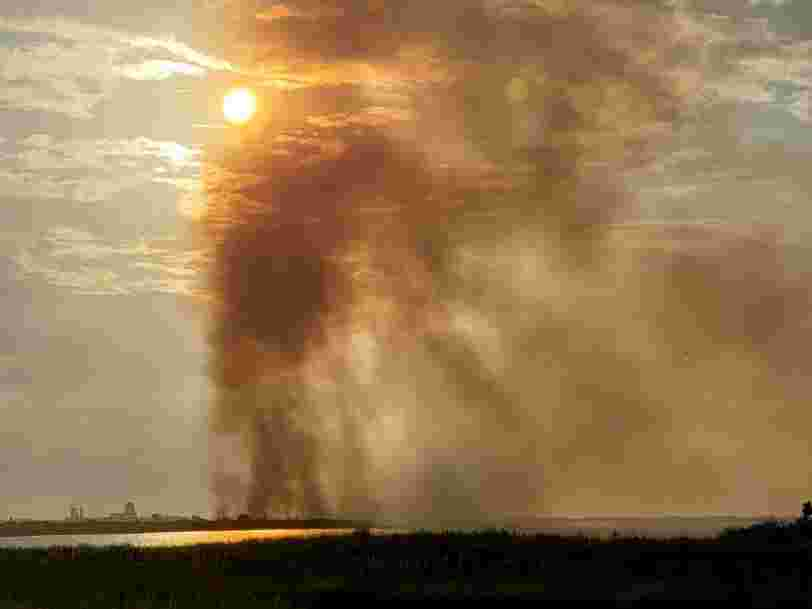 SpaceX's launch of an experimental rocket ship set fire to about 100 acres of wildlife refuge in south Texas