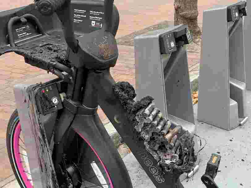Lyft is halting its e-bike program in San Francisco after two bikes mysteriously erupted in flames