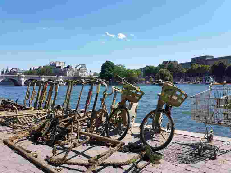 A French startup is using magnetic fishing rods to pull abandoned e-scooters out of the Seine