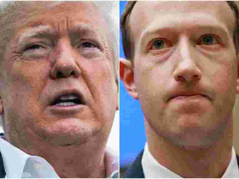 Facebook CEO Mark Zuckerberg had an undisclosed dinner with Trump and Peter Thiel at the White House