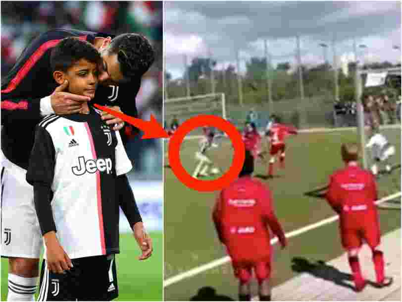 Cristiano Ronaldo's son has scored almost twice as many goals for Juventus as his father has since they moved to Italy