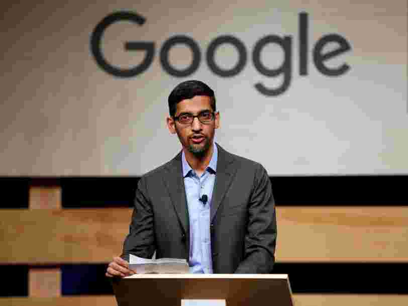 Read the email Sundar Pichai sent Google employees after founders Sergey Brin and Larry Page announced they were stepping down