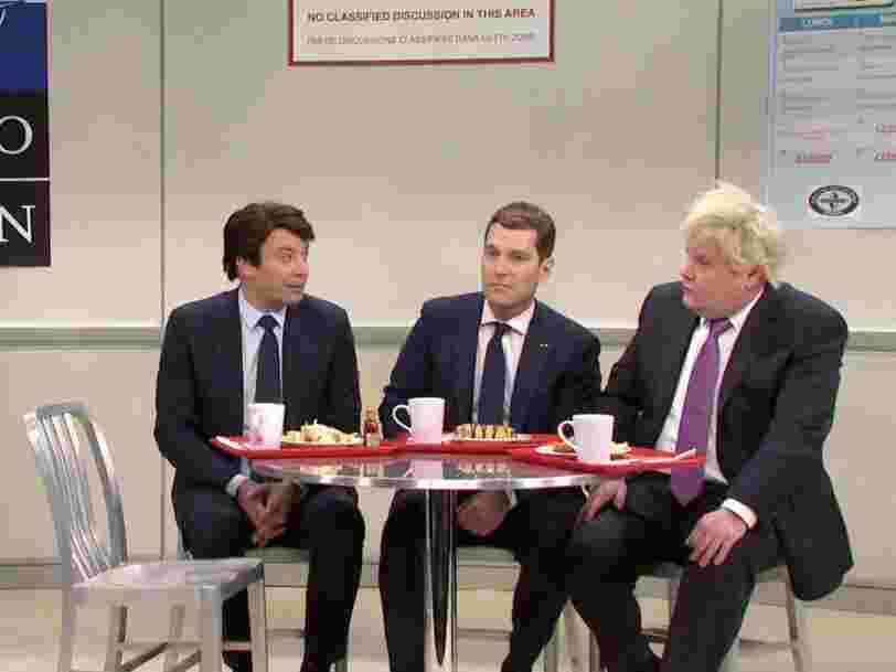 'SNL' mocks Trump's week at the NATO Summit with bullying from world leaders in the cafeteria