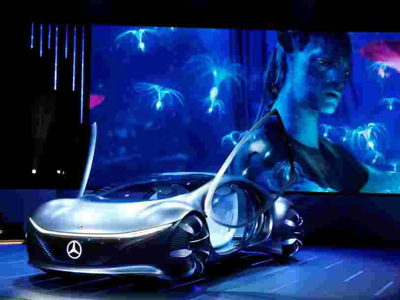 Mercedes-Benz unveiled a bizarre car inspired by 'Avatar' at CES which can drive sideways, has no steering wheel, and features scales