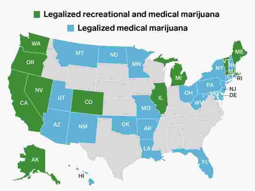 Legal marijuana just went on sale in Illinois. Here are all the states where cannabis is legal.