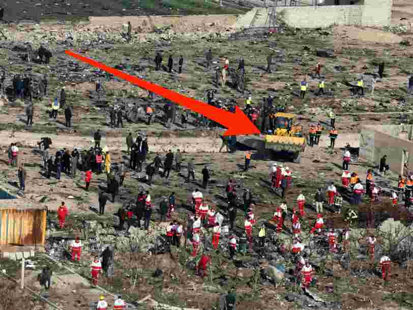 Iran is using bulldozers at the Ukrainian plane crash site, which could make it impossible to prove what happened