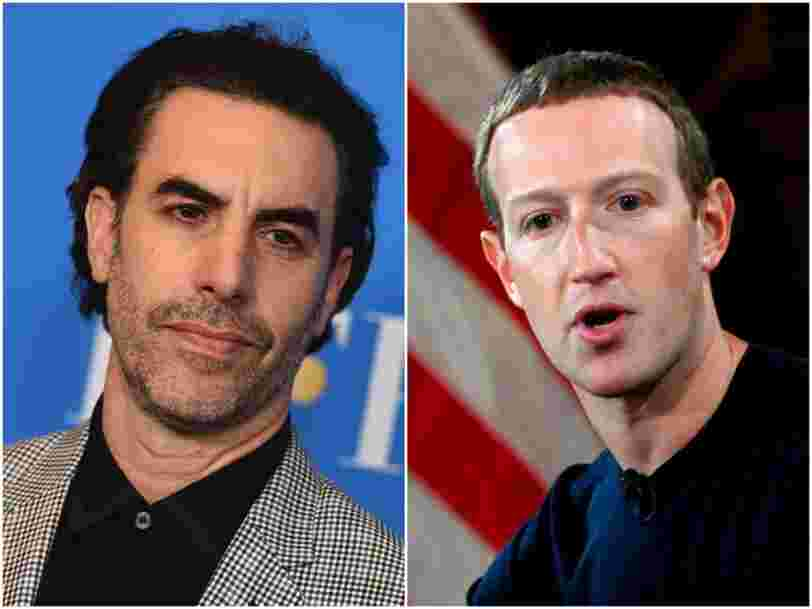 Sacha Baron Cohen tells Mark Zuckerberg 'history will judge you harshly — if we still have historians after you help destroy democracy'