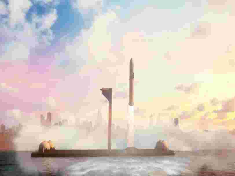Elon Musk: 'SpaceX is building floating, superheavy-class spaceports' for its Starship rocket to reach the moon, Mars, and fly passengers around Earth