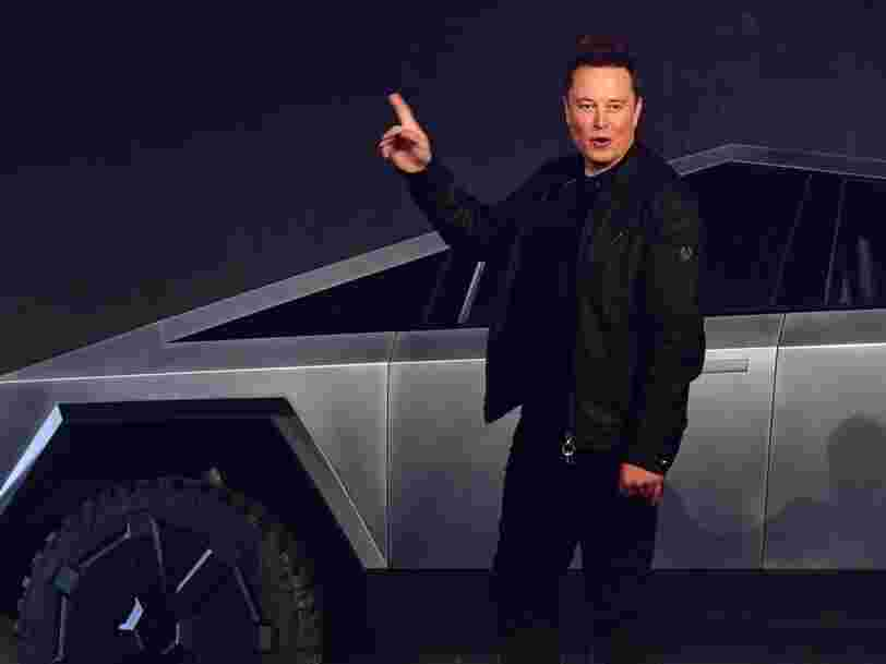 """Elon Musk claims in a tweet that Tesla's Cybertruck can float """"for a while"""""""