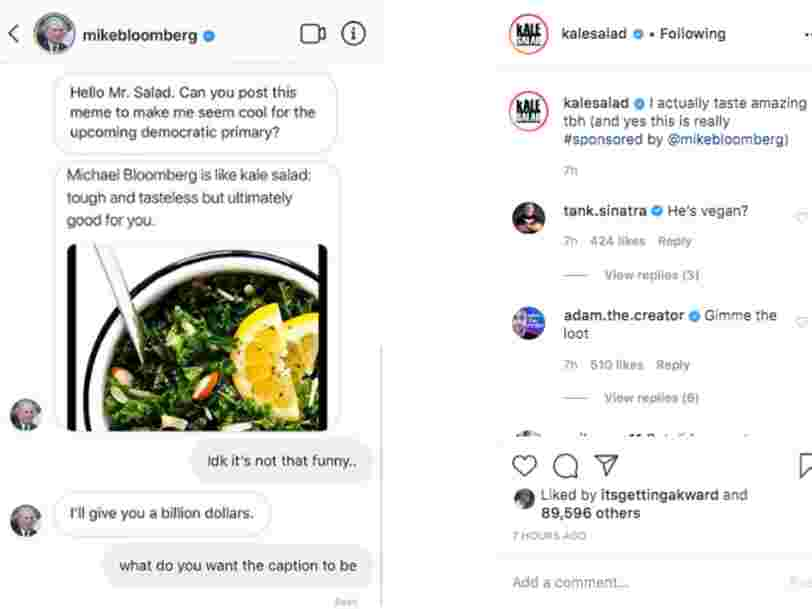 Facebook is changing its political-advertising policies on Instagram after Mike Bloomberg's campaign paid for memes on the platform