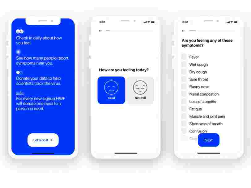 Pinterest's CEO launched a free iPhone and Android app for self-reporting your symptoms to help experts track the spread of the coronavirus