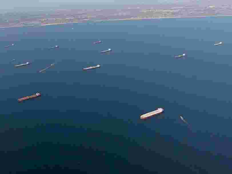 13 stunning photos of supertankers and storage tanks reveal the global oil glut in epic proportions