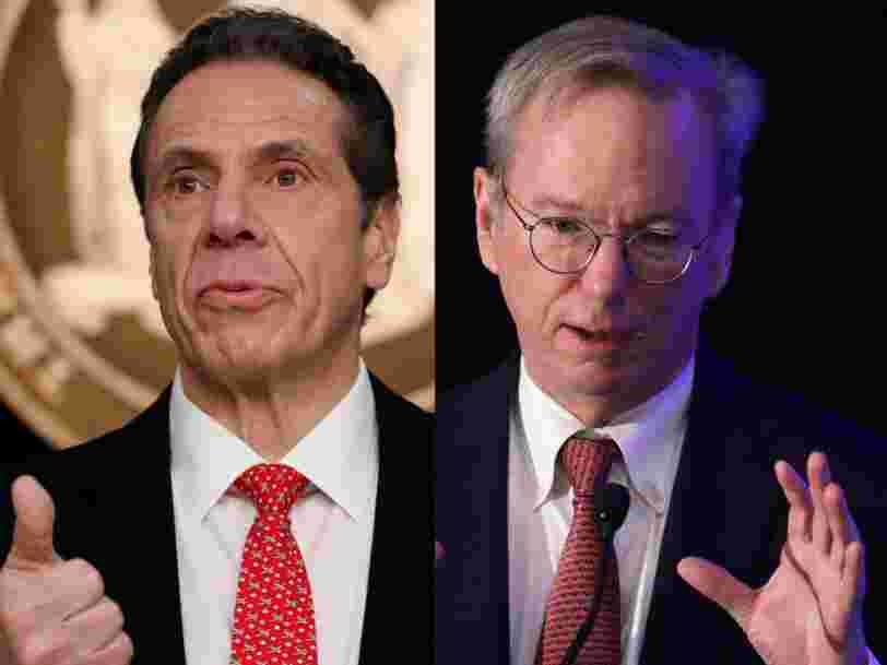 New York Gov. Cuomo just tapped former Google CEO Eric Schmidt to help invent a more tech-focused future for the state post-pandemic