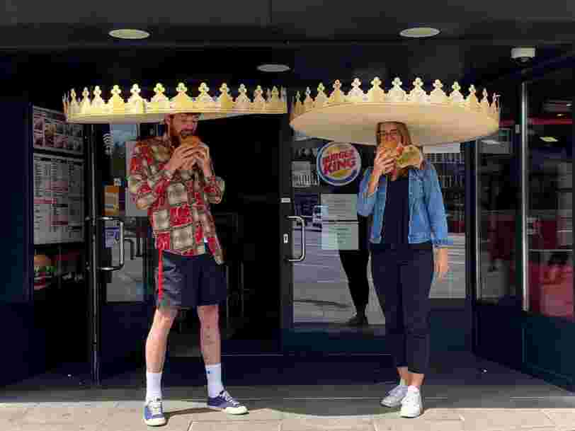Burger King debuts 'social-distance crowns' in Germany as restaurants test quirky ways to keep customers apart