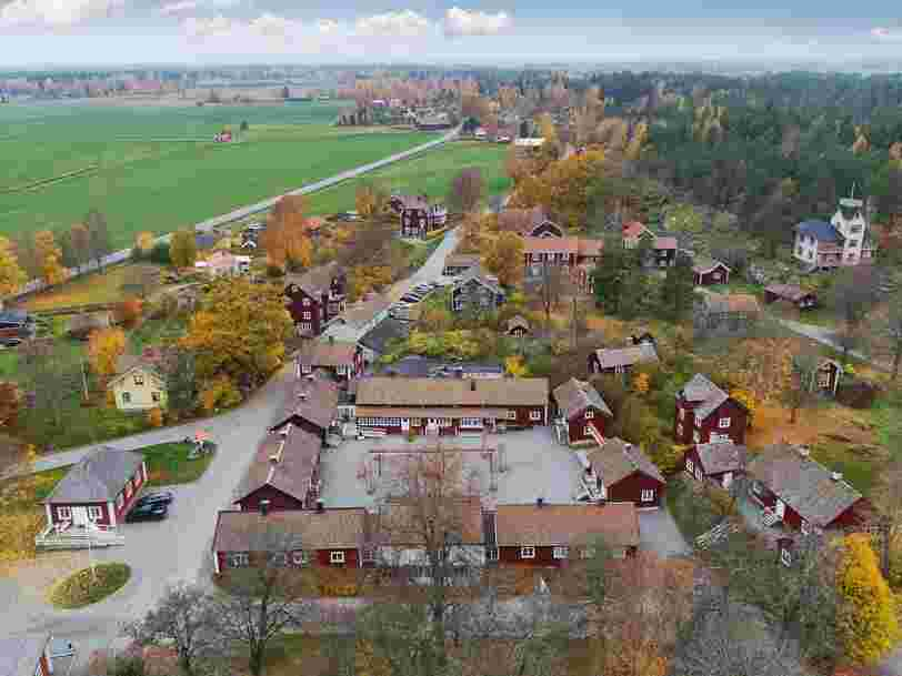 An entire 18th-century Swedish village is selling for $7 million. Here's a look inside the historic spa town.